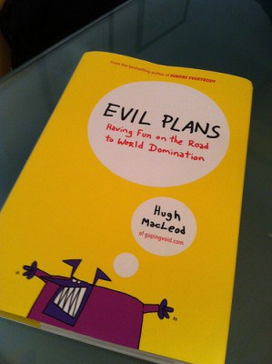 "my next book: ""evil plans"""