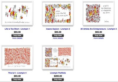 "the new seth godin ""linchpin"" prints: available at the gapingvoid gallery"