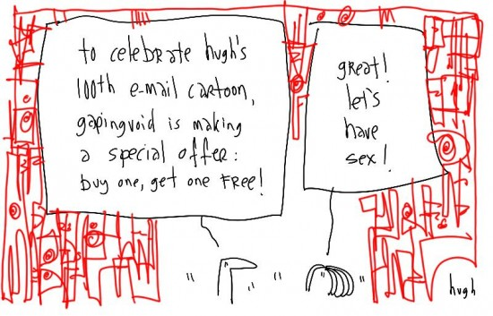 gapingvoid's 100th email cartoon