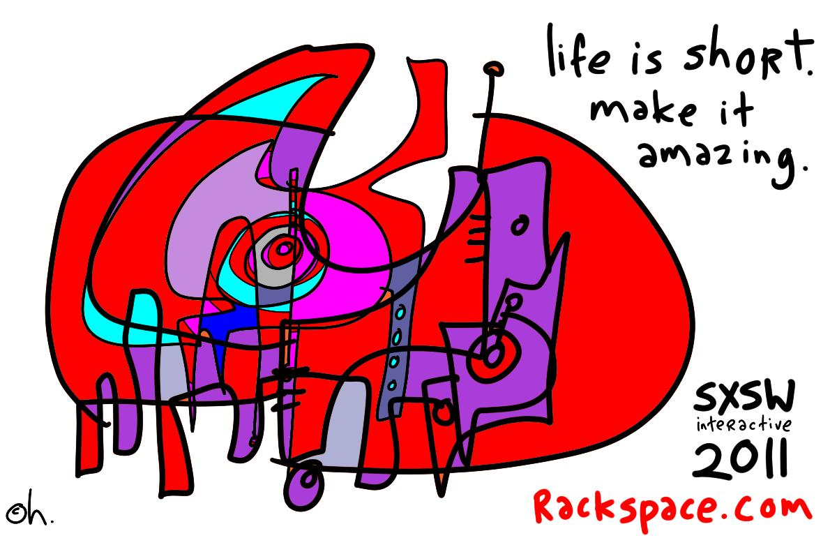 how rackspace needs to talk to people at sxsw - Gapingvoid
