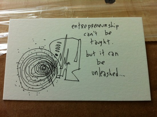 Newsflash: Babson College is gapingvoid's latest client.