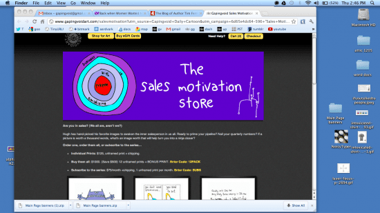 Check out the gapingvoid Sales Motiavation pop-up store
