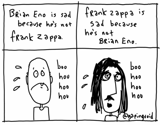 What we can learn from Brian Eno and Frank Zappa