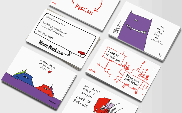 gapingvoid business cards