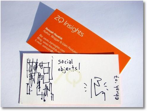 avinash's business card