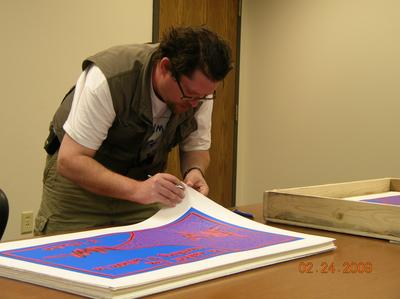 signing the bluetrain prints…