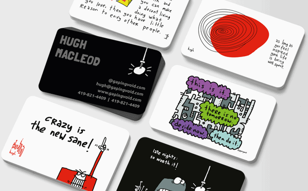 BIG NEWS: gapingvoid is now publishing cartoon business cards with Moo.com