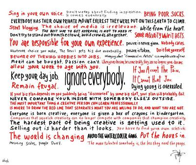 "the ""ignore everybody"" cartoon"