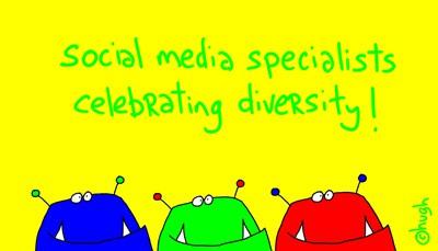 social media specialists celebrating