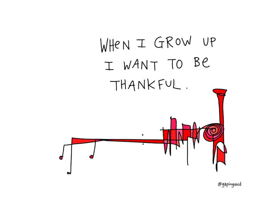i want to be thankful