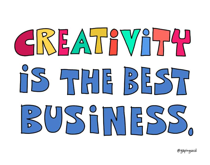 creativity is the best business