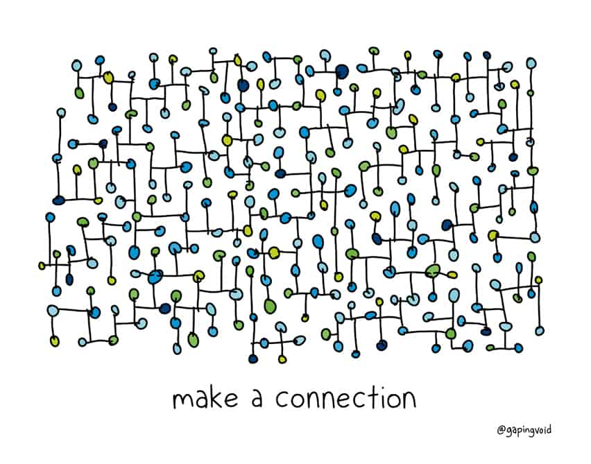 Make A Connection Gapingvoid