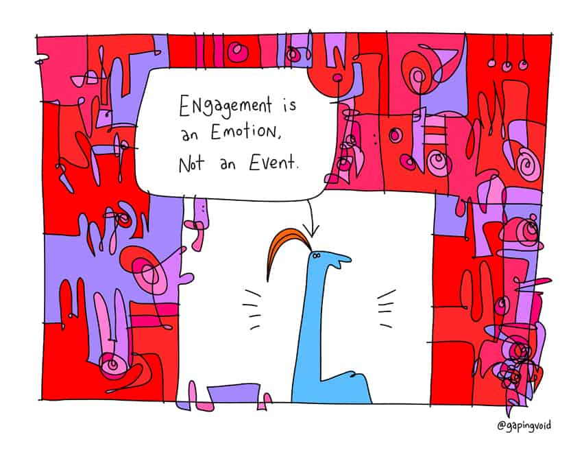 engagement is an emotion, not an event