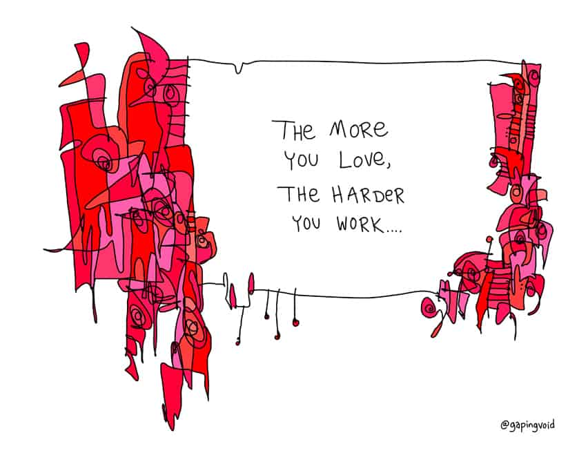 the more you love, the harder you work