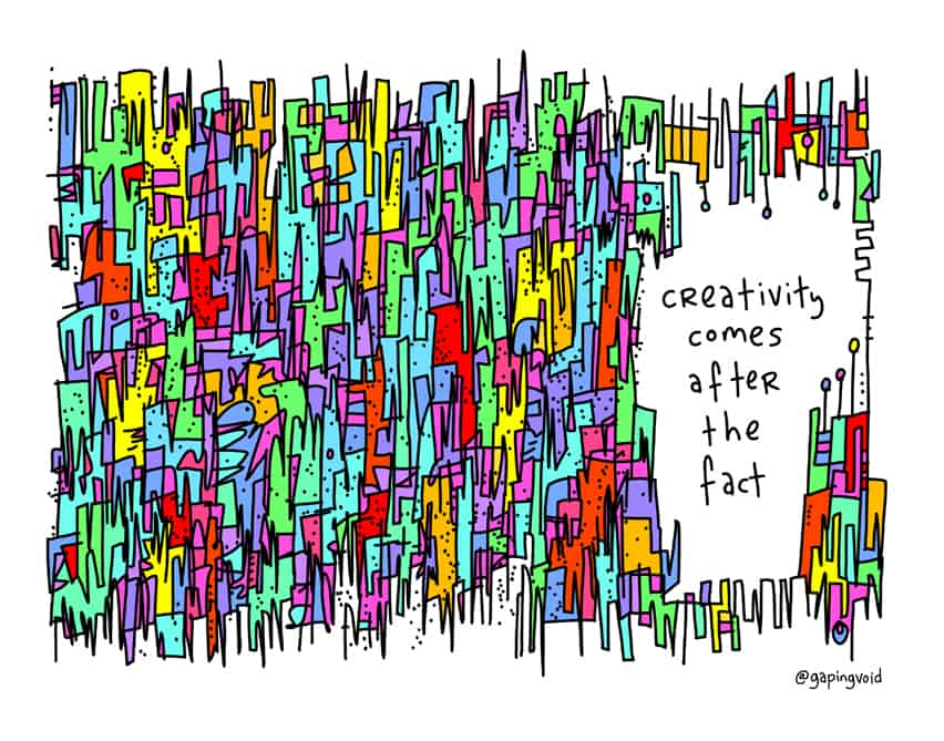 how creativity is born