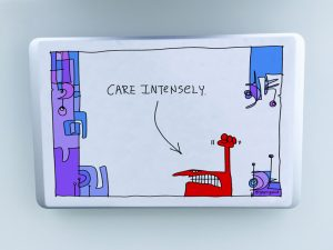 Care intensely