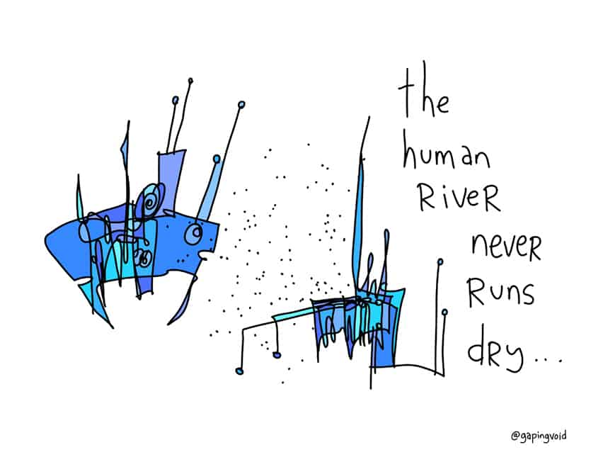 the-human-river-never-runs-dry
