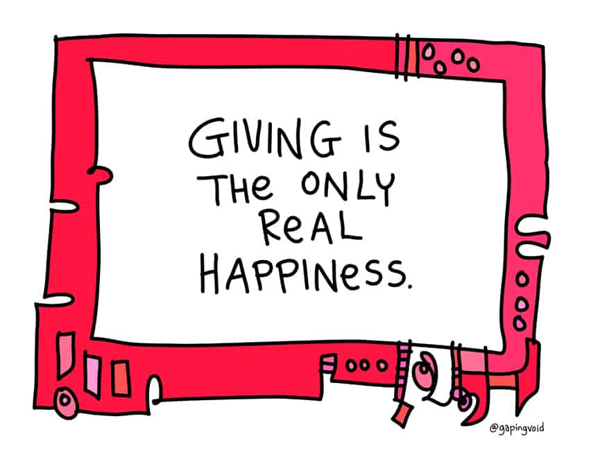 giving is the only real happiness
