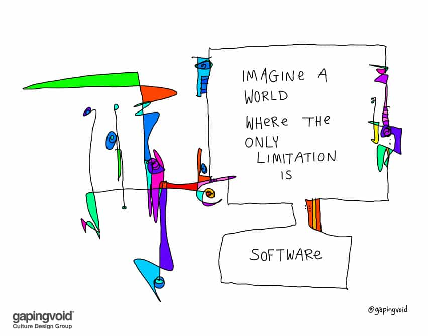 imagine a world where the only limitation is software
