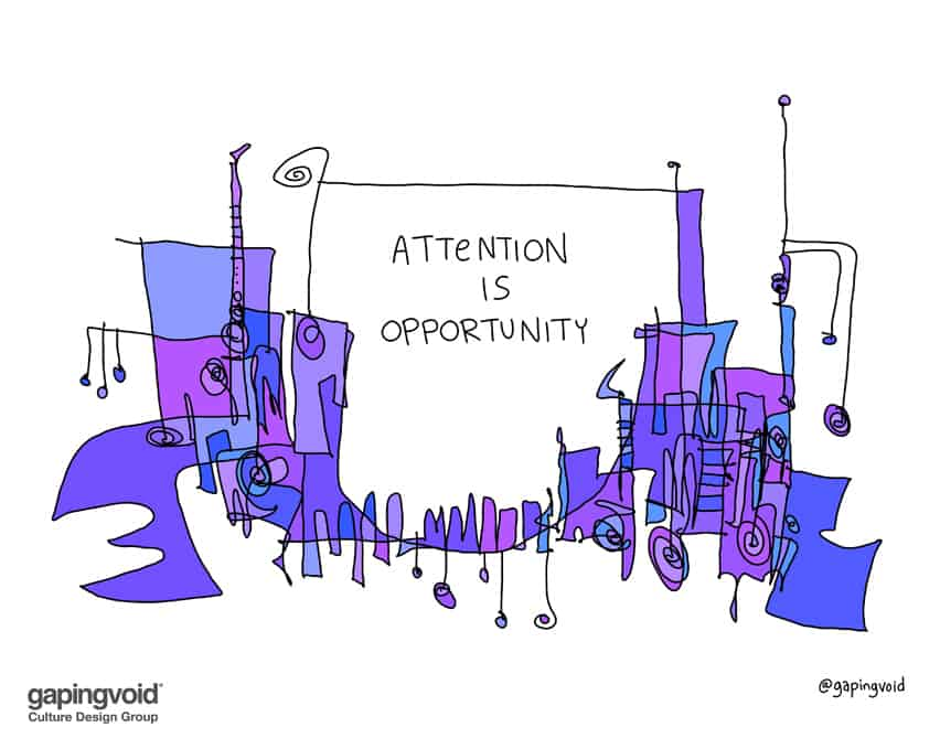 attention is opportunity