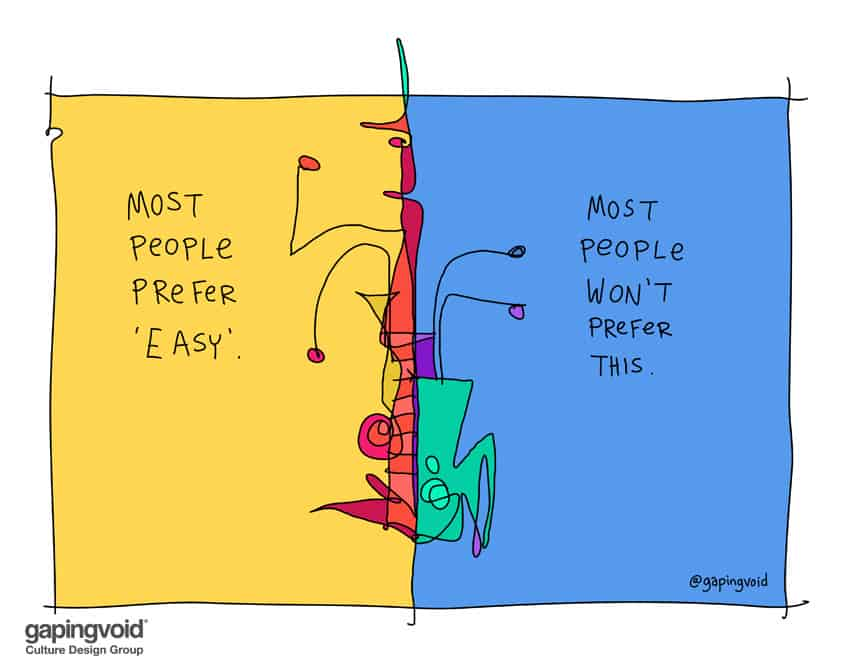 Most People Prefer Easy