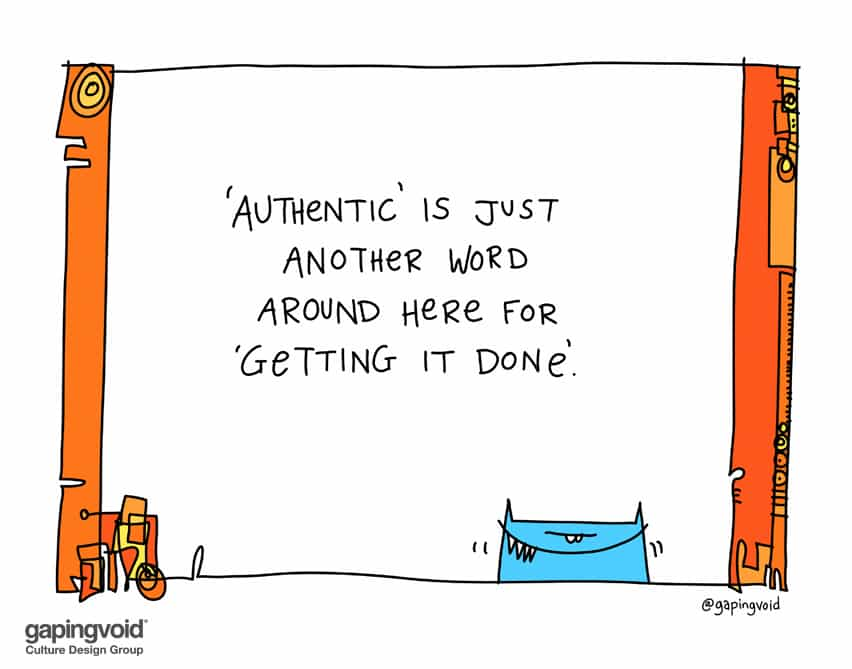 Authentic is just another word