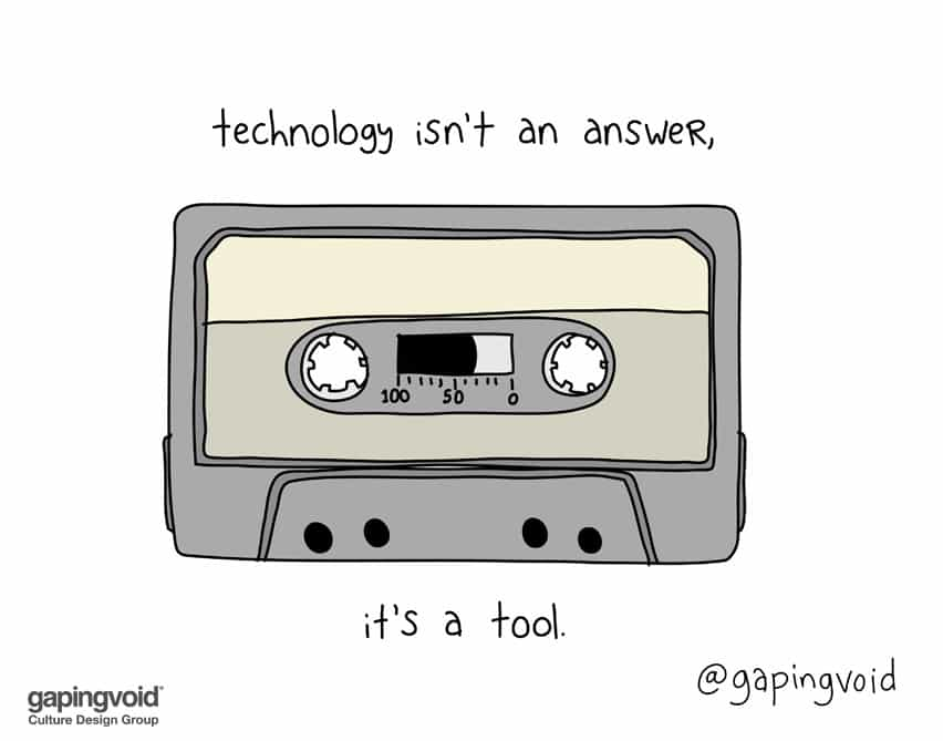technology isn't an answer it's a tool
