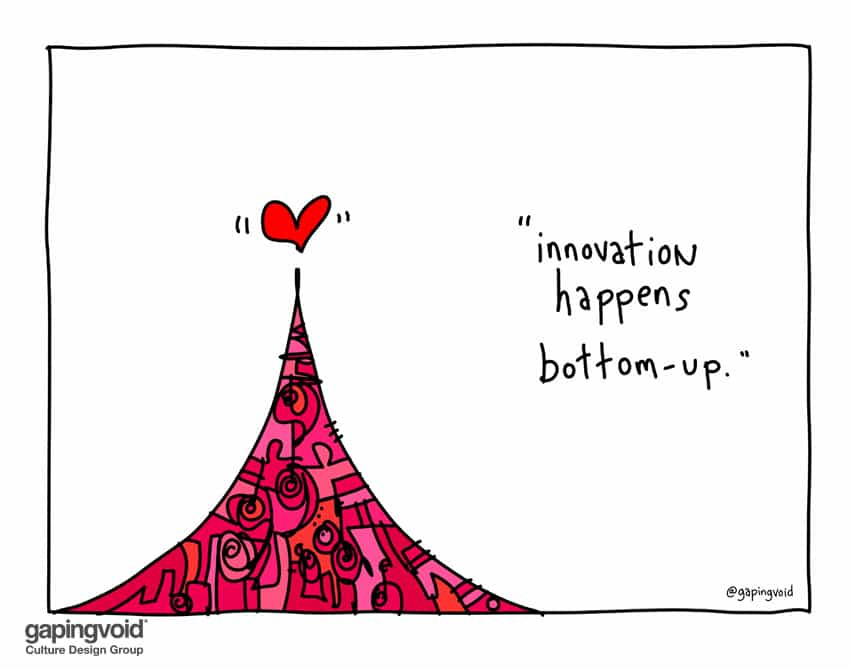 Innovation happens bottom-up