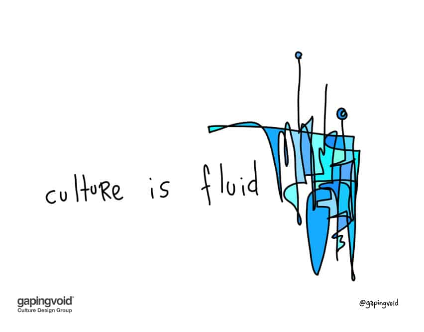 Culture happens in between the rules