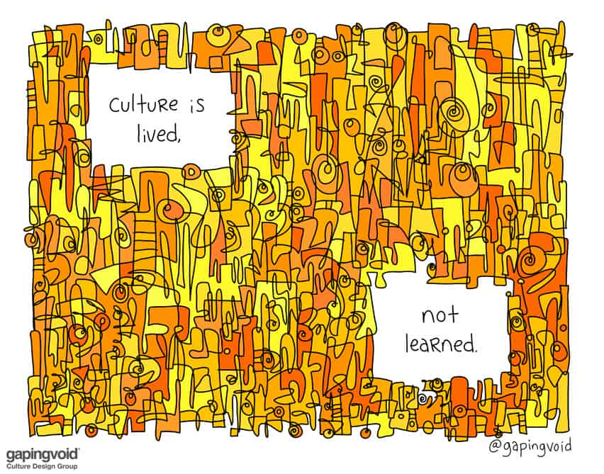 culture is lived not learned