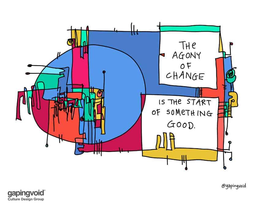 agony of change