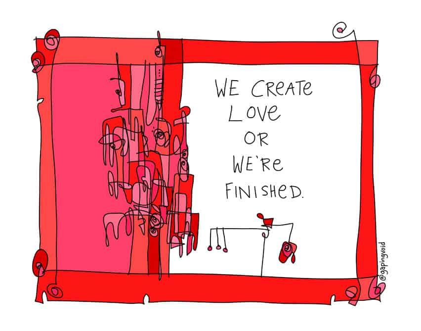 we create love