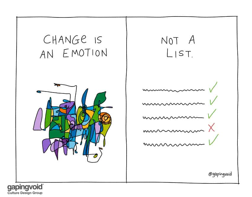 change is an emotion not a list
