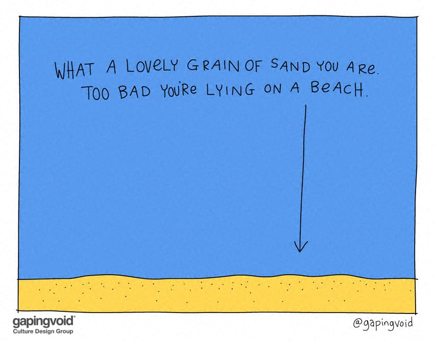 What a lovely grain of sand you are