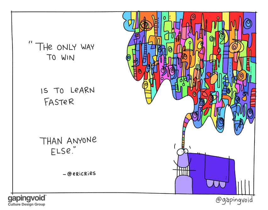 The only way to win is to learn faster