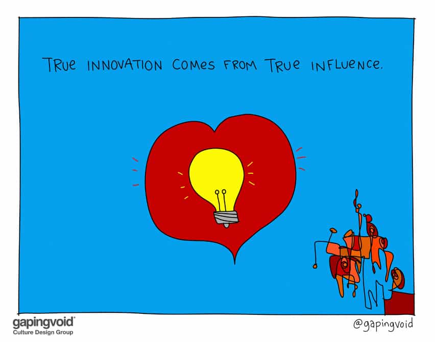 True innovation comes from true influence