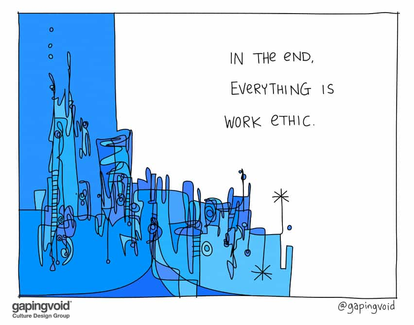 in the end, everything is work ethic