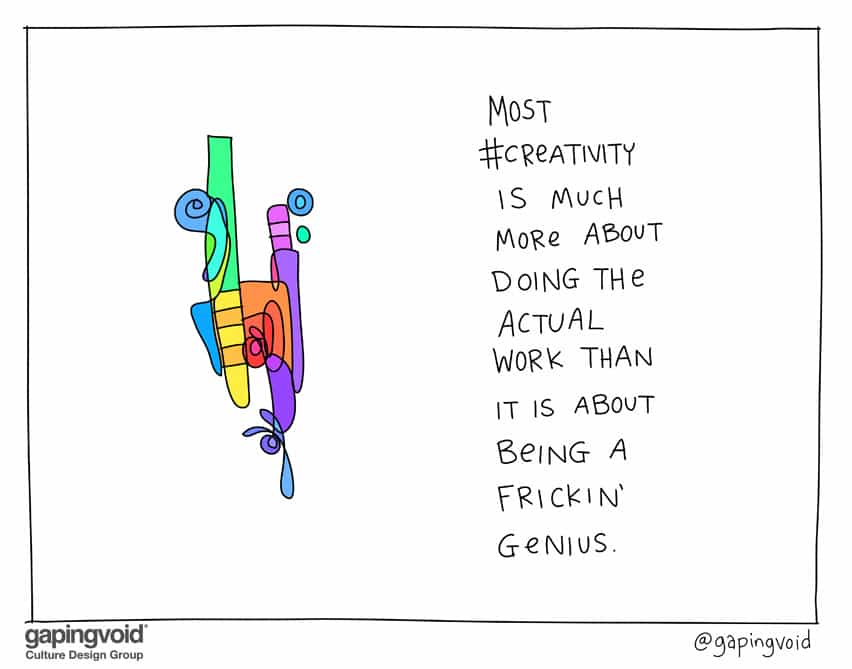 Most creativity is much more about doing the actual work