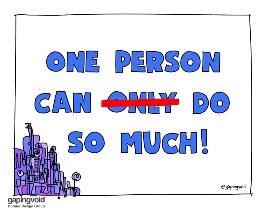 One person can do so much