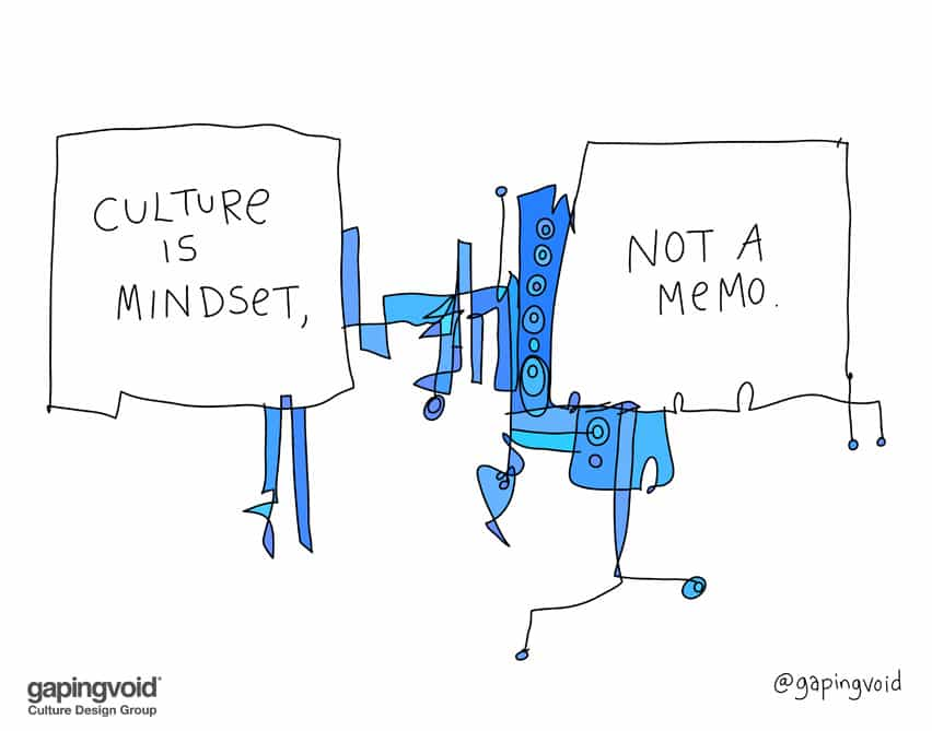 culture is mindset not a memo