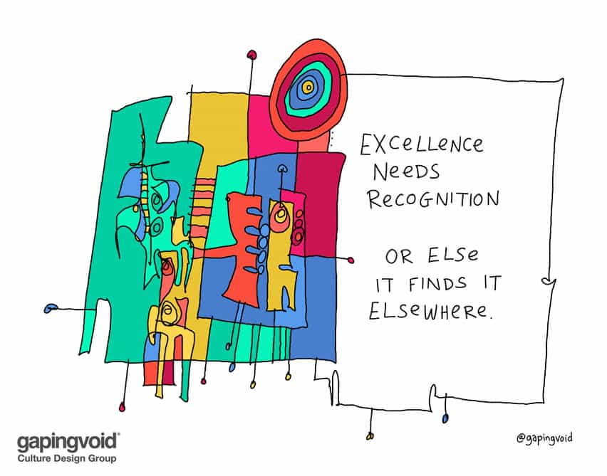 excellence needs recogntion or else it finds it elsewhere