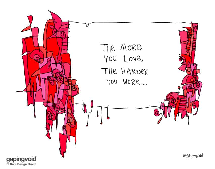 The more you love the harder you work
