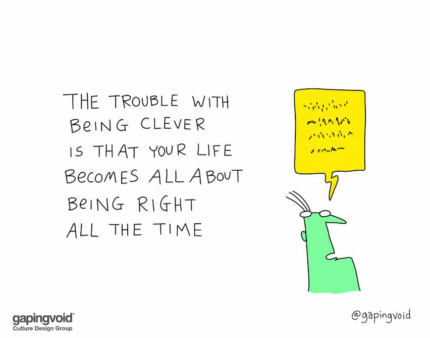 The trouble with being clever