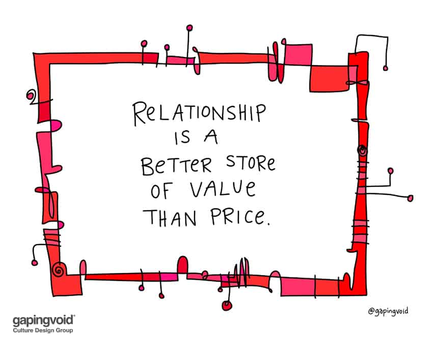relationship is a better store of value than price