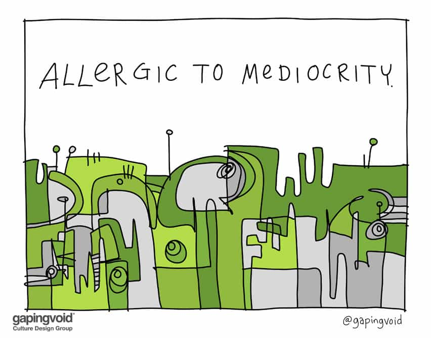 Allergic to mediocrity