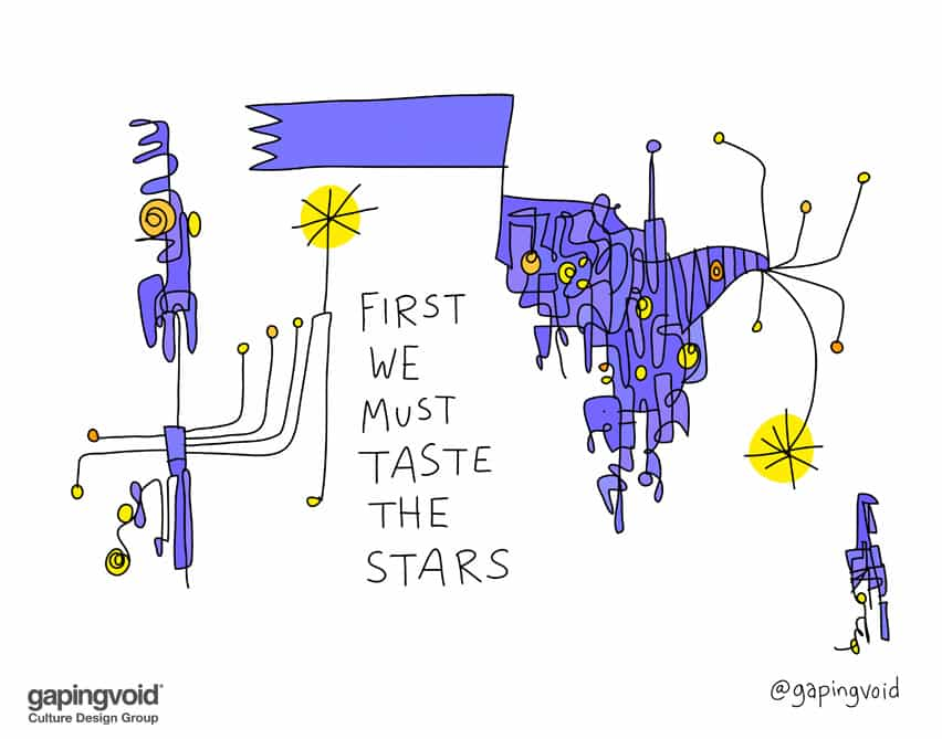 First we must taste the stars