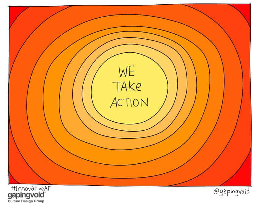 We take action