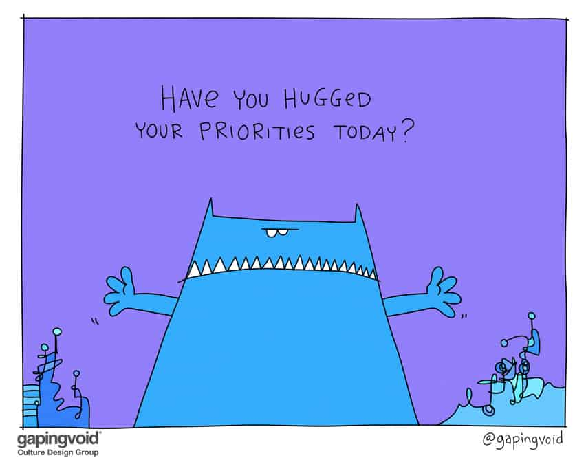 have you hugged your priorities today?