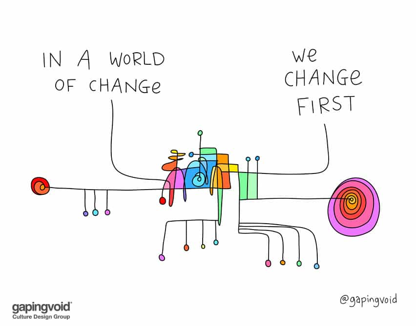 In a world of change we change first