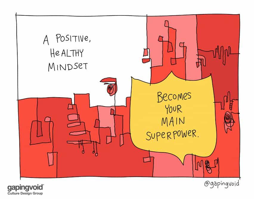 A positive healthy mindset